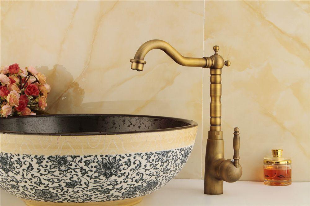 Kostenloser Versand Schwarz Wasserhahn Kupfer Küche Waschbecken Wasserhahn Kann Gedreht Werden Heißen Und Kalten Mischer