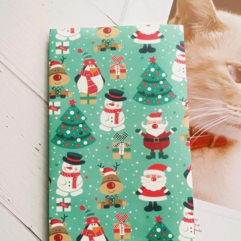 2adet / lot Noel Çerez Kağıt Hediyelik Çanta Noel Kek Snowflake'i Ambalaj Ve Kardan Adam Ağacı Kutuları D6Y3 Baskı Ambalaj