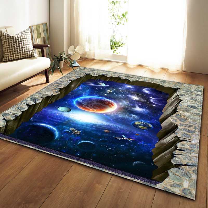 Nordic Teppiche Weichen Flanell 3D Gedruckt Bereich Teppiche Salon Galaxy Raum Matte Teppiche Anti-Rutsch Große Teppich Teppich Für Wohnzimmer Decor