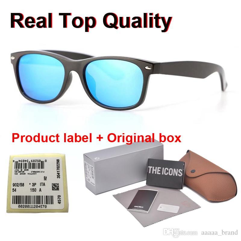 ücretsiz Perakende vaka ve kutu ile erkekler kadınlar Ayna cam mercek moda tahta çerçeve Metal menteşe için yeni varış Marka Tasarımcı güneş gözlüğü