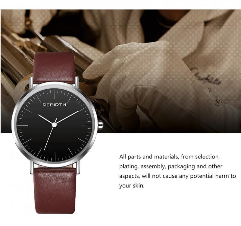 Correa de las mujeres del reloj de los hombres del cuero de las mujeres de los relojes de señoras Hombre Mujer reloj de cuarzo para chicas regalos Xfcs