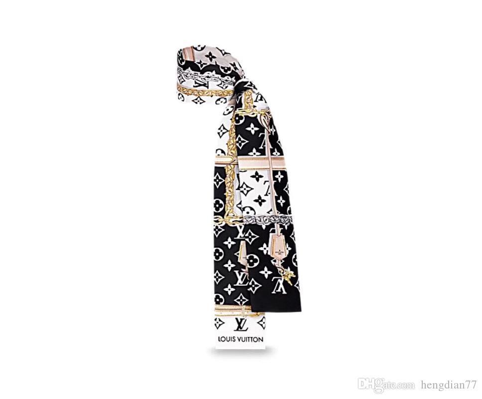 Moda Yeni kabartılmış İpek Küçük Kadınlar Moda Eşarp Saç Çanta Dekorasyon Tie Fonksiyonlu Şerit Eşarp Kulp