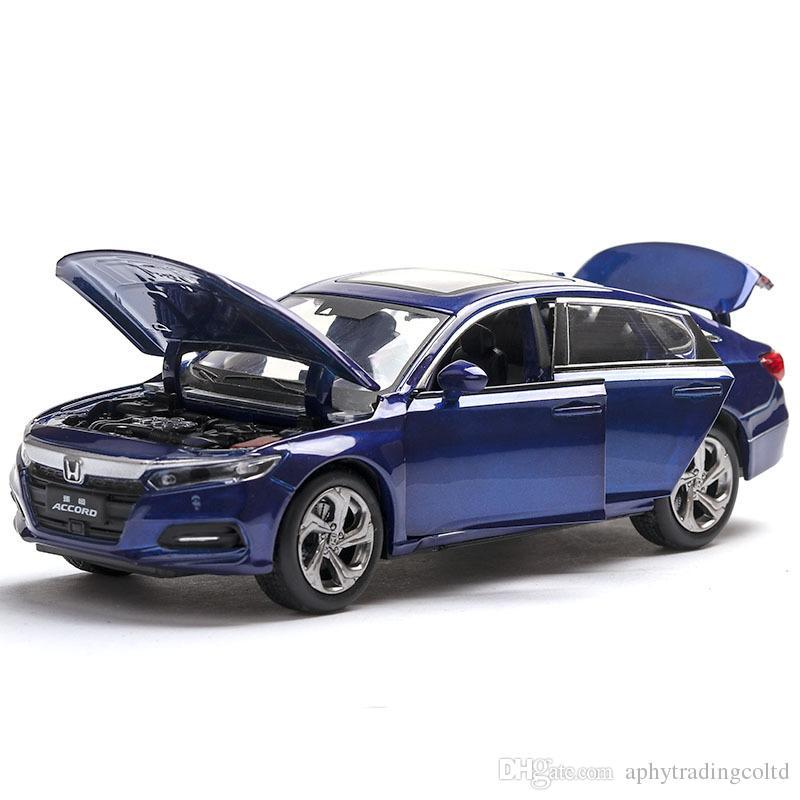 1/32 Ölçekli Honda Accord Döküm Alaşım Çekme Geri Araba Koleksiyon Oyuncak Hediye