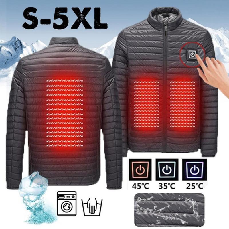 남성 파카면 패딩 겨울 자켓 스마트 USB 복부 돌아 가기 전기 난방 따뜻한 코트 남성은 0904 코트 다운 파카 #을 따뜻하게