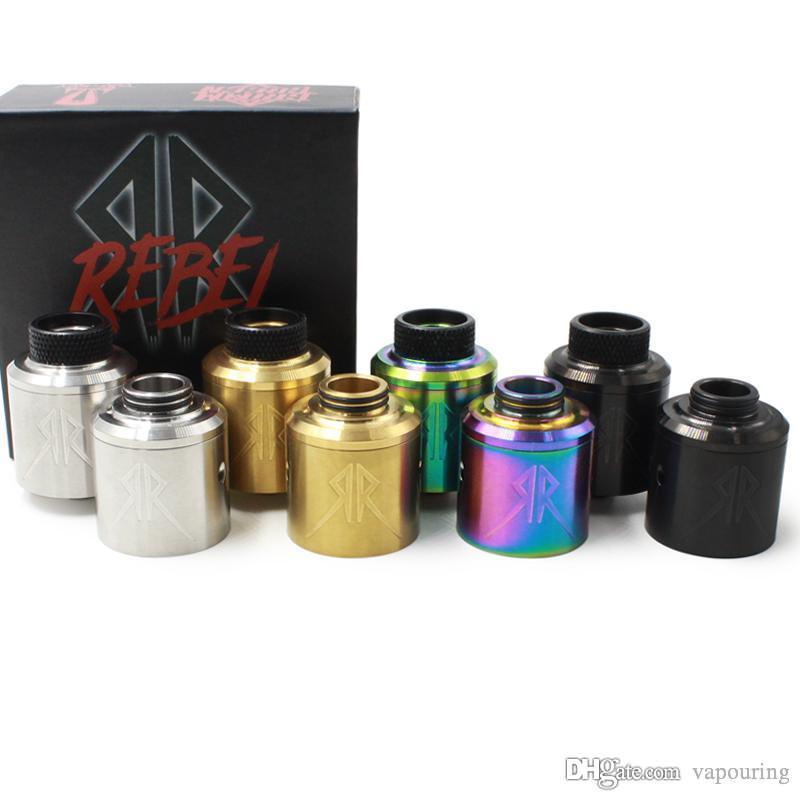 Vapouring Recoil Rebel RDA Clone Dripping or Replaceable Atomiseur plaqué laiton 510 broches 304 en acier inoxydable DHL 1