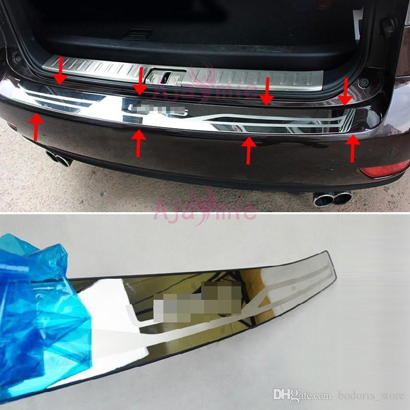 Logo Paraurti per Audi Q5 2009 2010 2011 2012 2013 2014 2015 2016 Paraurti Posteriore Porta Protector Tronco Davanzale della Cornice in Acciaio Inox Cromato Car Styling