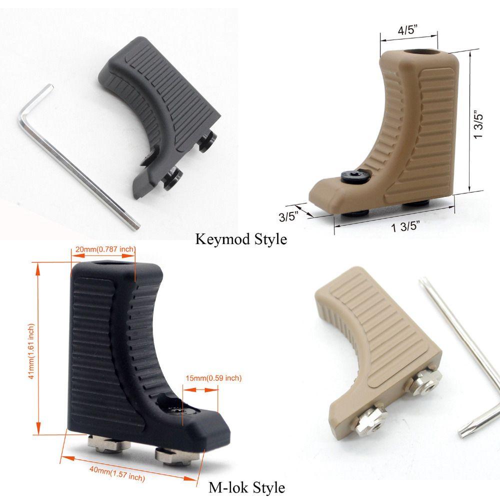 قبضة أسود / تان Color_Aluminum Handstop التكتيكية اليد كيت جبهة اعد Foregrip خفيفة لKeymod / M-لوك HANDGUARD جبل