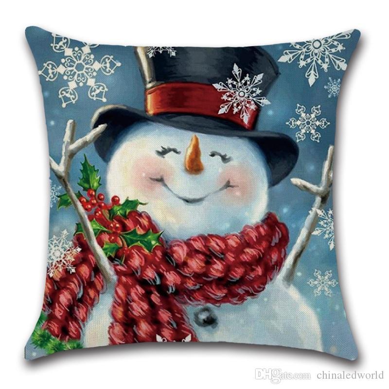 Счастливого Рождества Наволочка Диван Наволочка Наволочка Декоративные Подушки