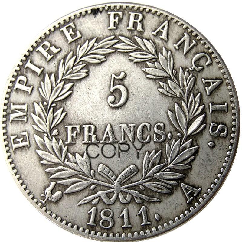France 5 Francs 1811A-W 12pcs différent Mintmark Pour Choisissez Silver Coins Plaqué Copie