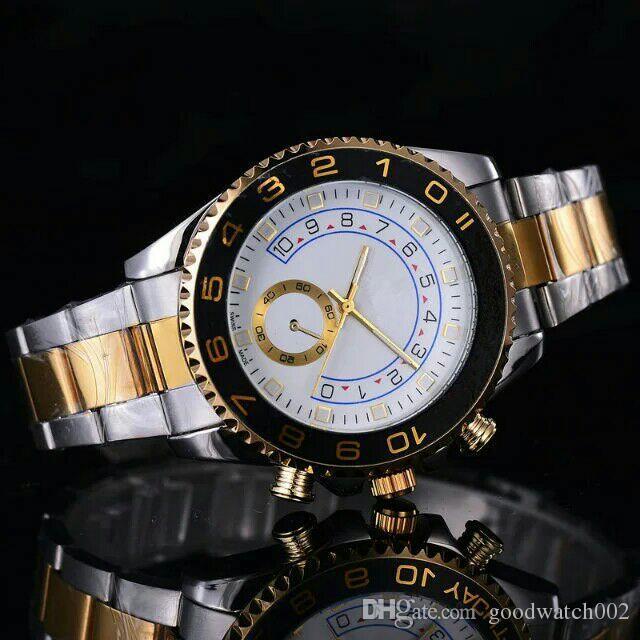 Nuevo estilo de moda para hombre, marca de reloj grande, acero inoxidable dorado, relojes de cuarzo para hombre de alta calidad, reloj de pulsera para hombre, relojes de pulsera de plata / oro # 88