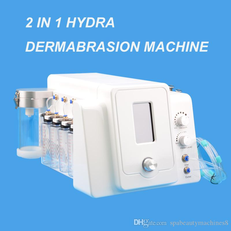White color 2 in1 Hydrate Facial Hydrodermabrasion Bio Microcurrent Skin Rejuvenation facial dead skin removal Machine