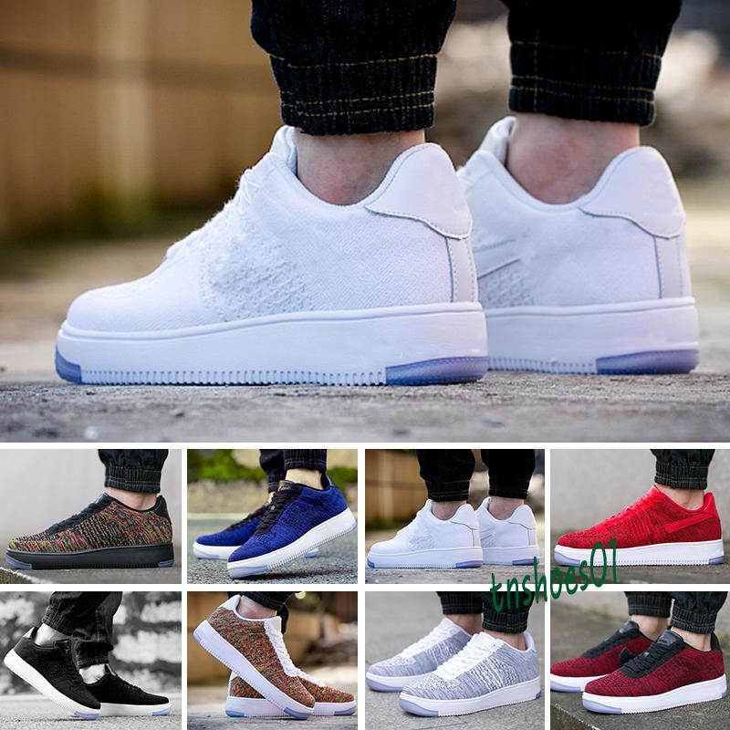 Nike Air Force 1 AF1 Flyknit 2020 Новый 1 Mens 2,0 кроссовки кроссовки MCA университет Синий Спорт Повседневный Скейтборд Женщины с низким Chaussure обувь 36-45 T58