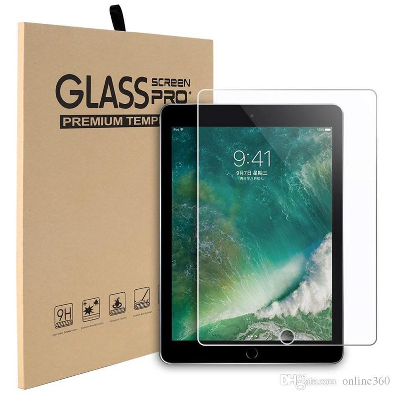 Per lo schermo di iPad Air 9,7 vetro temperato Protector per il nuovo iPad Pro 11 12,9 2018 10,5 2019 mini 4 Samsung Tab A2 T595