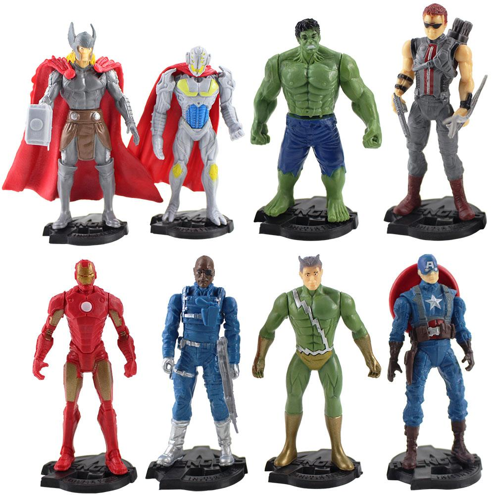 The Avengers 10cm Action Figures 3 Pack Thor//Captain America//Hawkeye