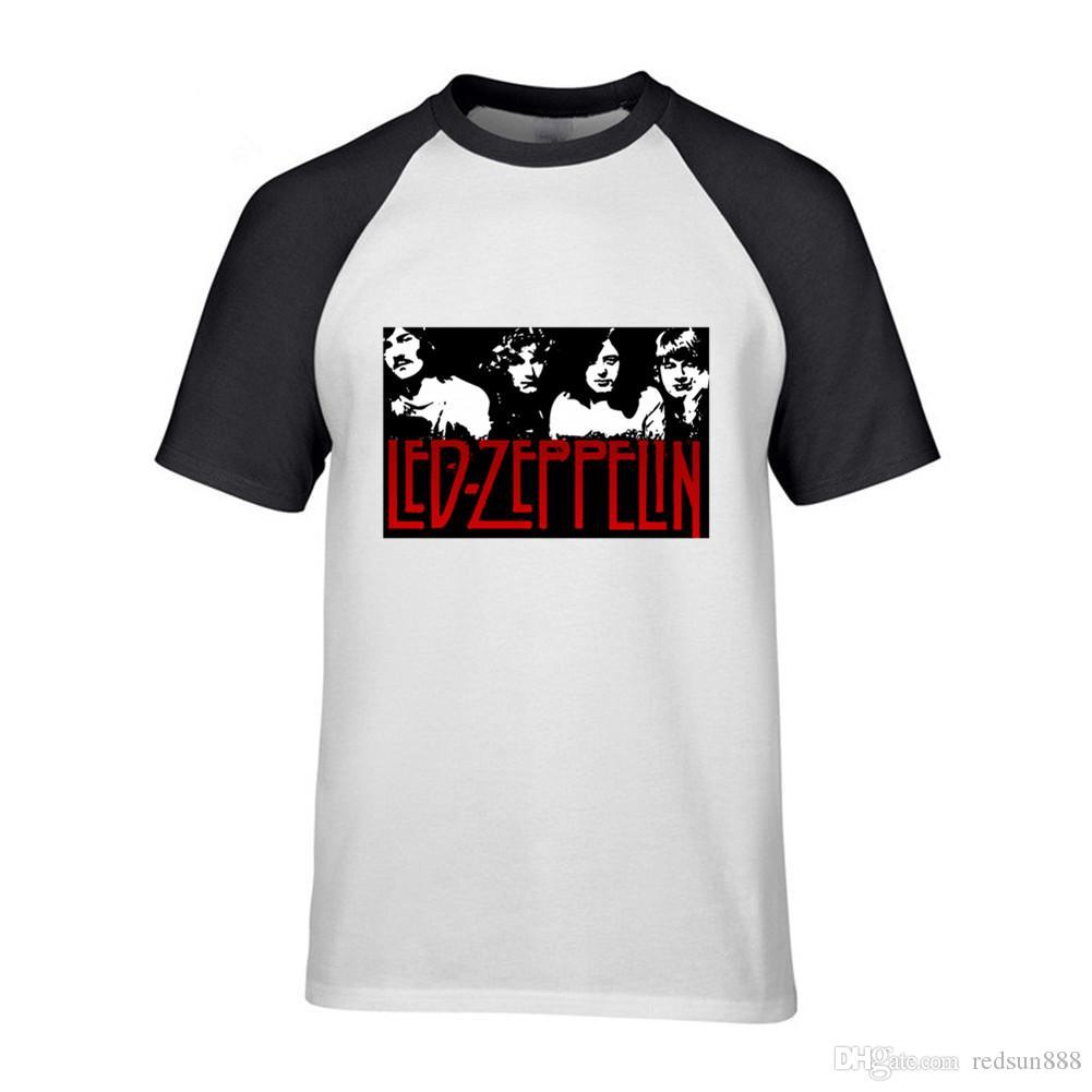 Led Zeppelin roca dura camiseta menHip Hop hombres folk rock de punk camiseta de algodón camiseta gráfica superior del verano camiseta homme Camisetas verano 2019
