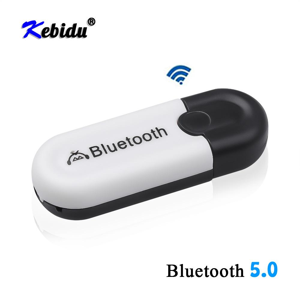 Consumer Electronics Kebidu 2 in 1 Wireless Bluetooth 5.0 Receiver Adapter Car AUX Audio USB Dongle Adapter 3.5mm Jack For Headphone Car