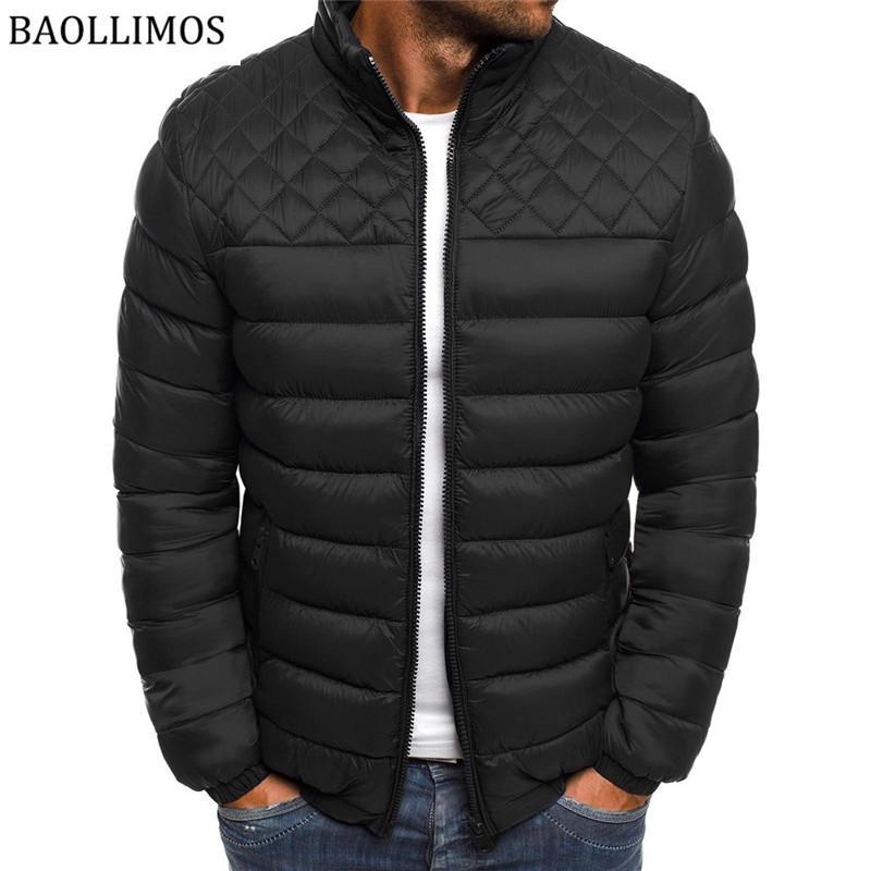 Зимняя куртка Мужская 2019 Новые толстые хлопчатобумажные мягкие куртки Parka Slim Fit с длинным рукавом Стеганые верхняя одежда Пальто