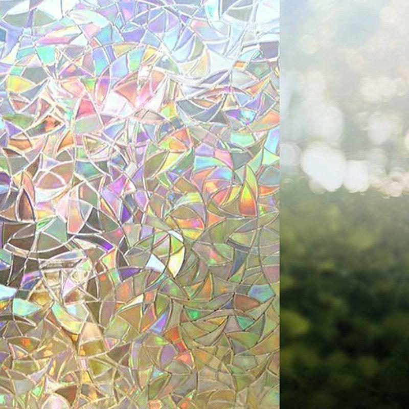 Glass Window Stickers PVC smontabile elettricità statica autoadesivo della pellicola usata per il bagno servizi igienici e uffici di vetro decorativo domestico