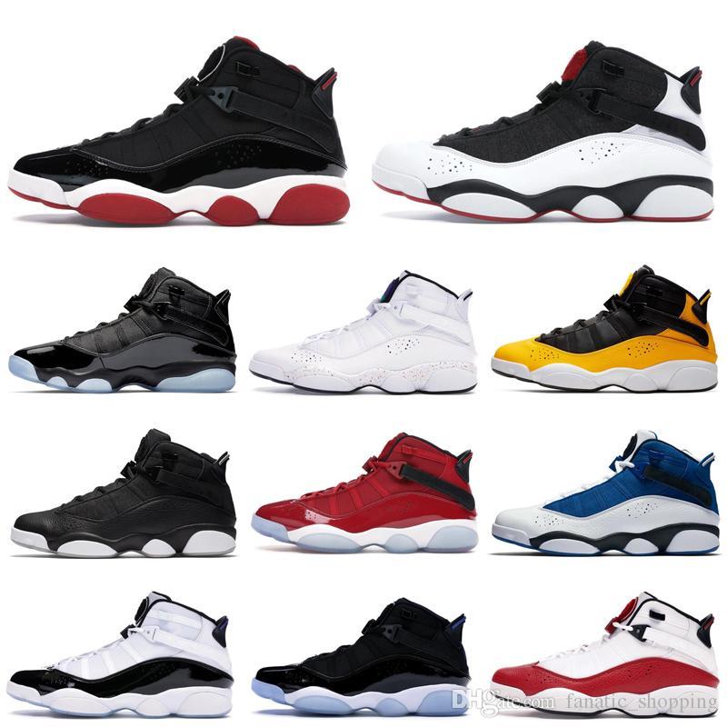 Borradura pobre el primero  TOP 6 Rings Men Basketball Shoes AirJordanRetro Six Taxi ...