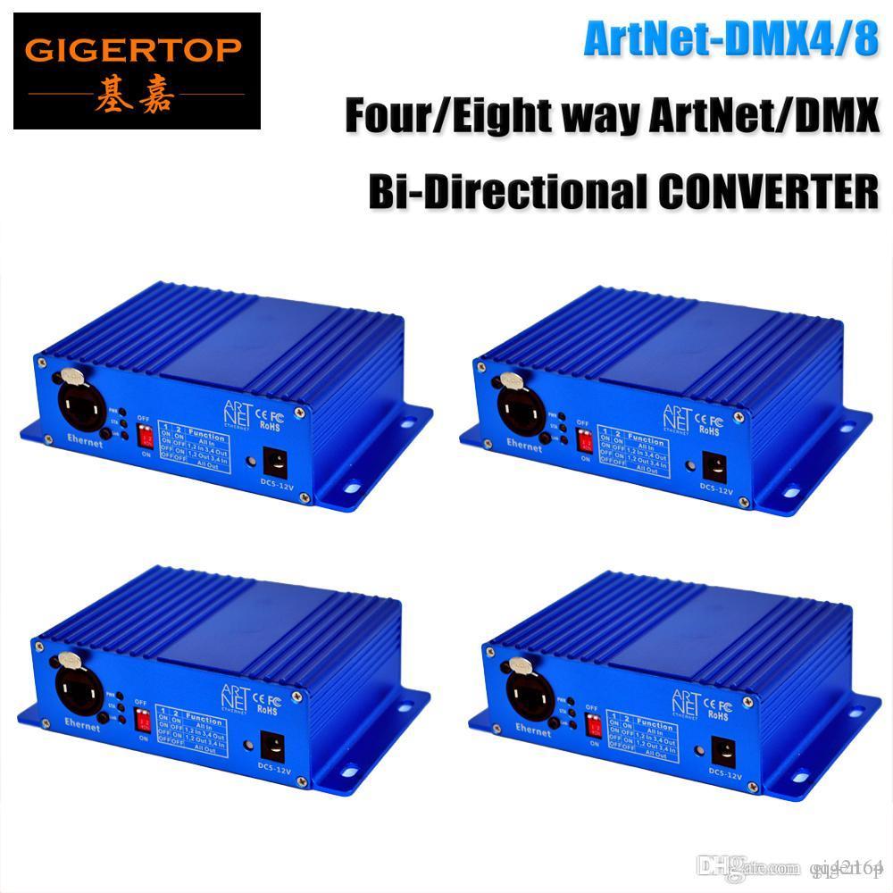 Fast Shipping 4x Ethernet DMX Converter Stage Light Controller RJ45 Interface de Rede / Padrão DMX512 Output Control Mode Two