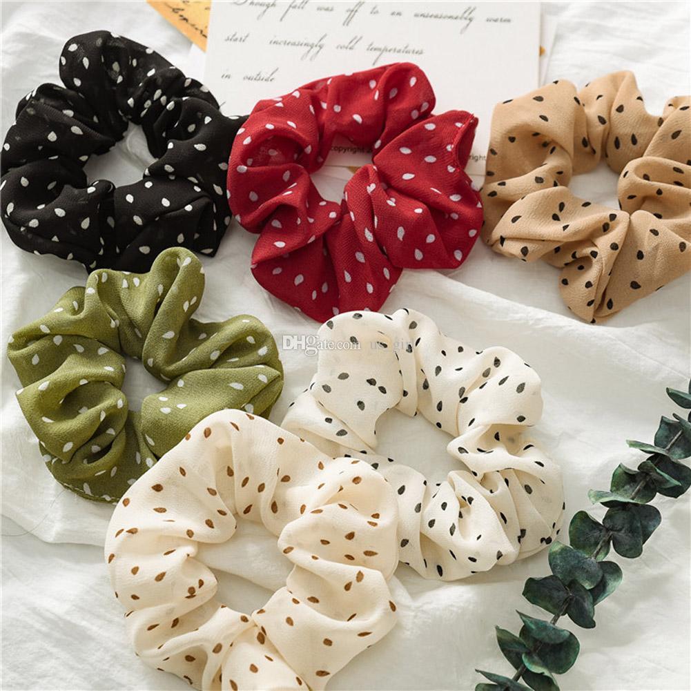 Hair Tie Bobble Hair Band Pony Tail.. 1x Scrunchie Bow Kids Elastic Bands Girls