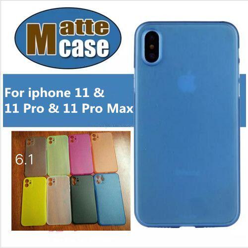 Para iphone 11 pro max 0.3mm ultra fino e fosco fosco pp phone case transparente flexível case capa para iphone x xs max xr 8 7 6 6 s plus