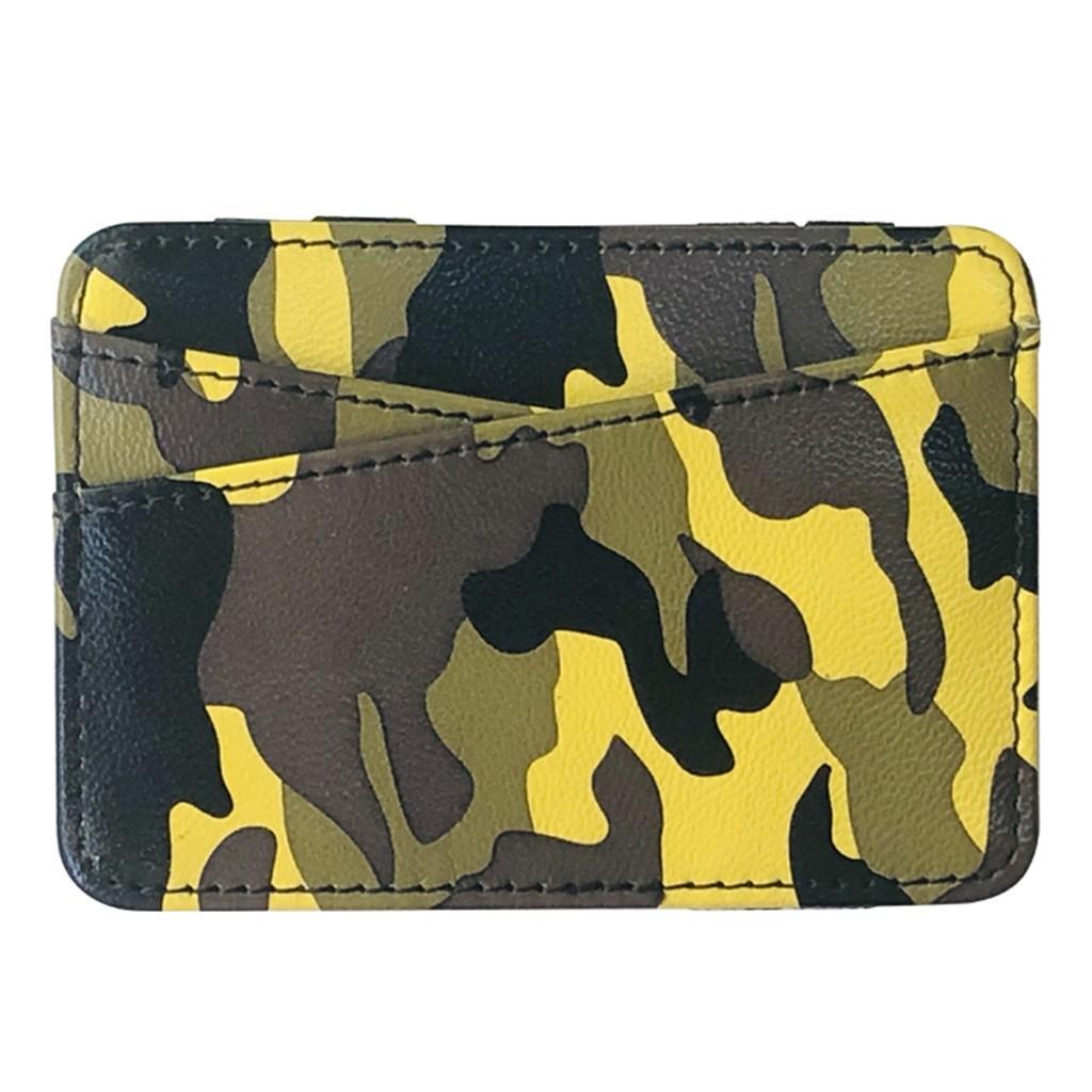 Aelicy 패션 짧은 중립 패킷 남여 짧은 카모 동전 지갑 클러치 지갑 카드 홀더 패션 여성 위장 지갑