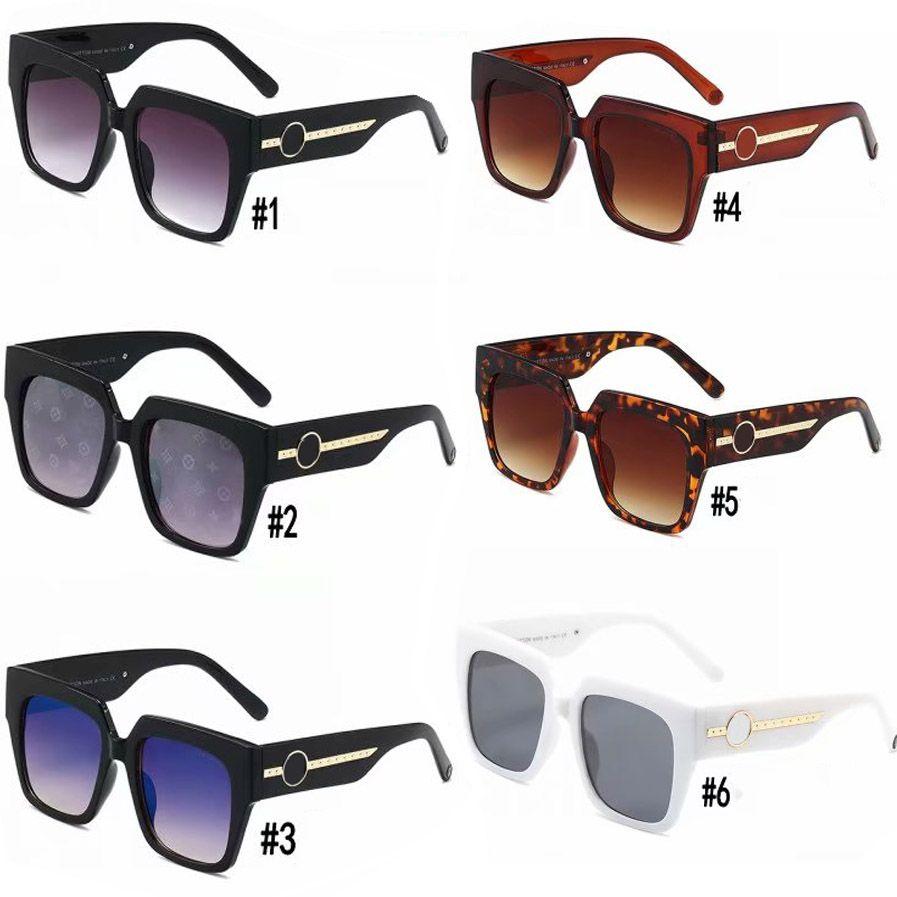 10PCS, 큰 광장 럭셔리 1074 선글라스 여성 클래식 PC 프레임 태양 안경 100 % 자외선 보호 안경 (6) 색상에 대한 디자이너 선글라스