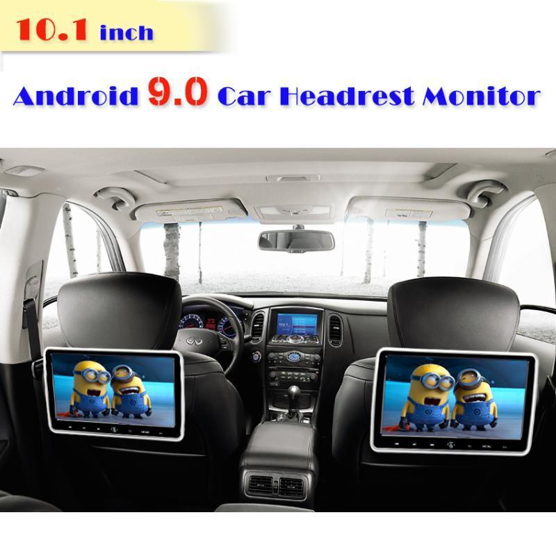 10.1 بوصة الروبوت 9.0 2GB + 16GB 1920 * 1080 سيارة مسند رأس مونيتور 4K 1080P MP5 WIFI / بلوتوث / USB / SD / HDMI / FM / مرآة لينك / Miracast