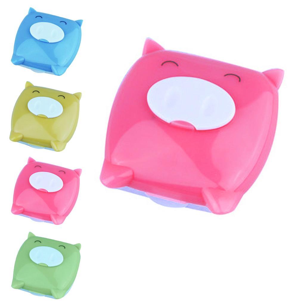 Novo Unisex Bonito Dos Desenhos Animados Porco Dos Desenhos Animados Caixa de Lente De Contato Caixa De Lentes De Contato Caixa
