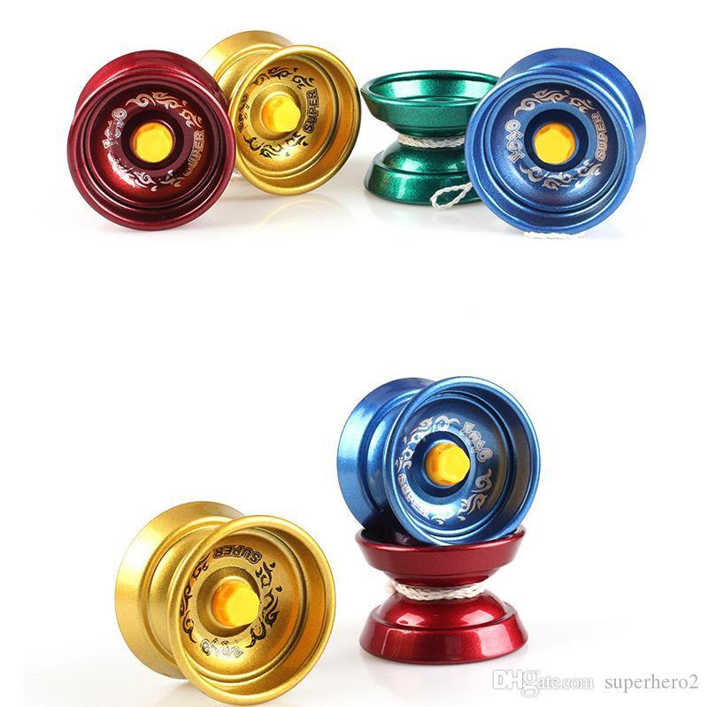 ZHUZEwei Metal Alloy Yo-Yo Childrens Toys Alloy Yoyo Metal Yoyo Responsive Yo Yo Aluminum Yo-yo Ball For Beginners