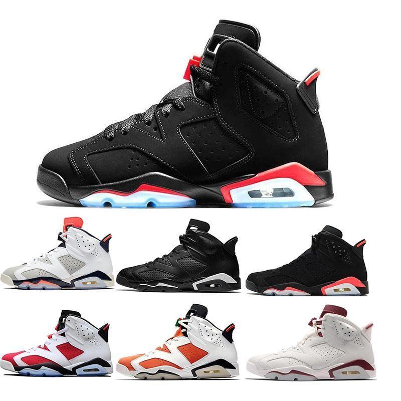 Yeni 6 6s Basketbol Ayakkabı Tinker UNC Kara Kedi Beyaz Kızılötesi Kırmızı Carmine Toro Erkek Tasarımcı Eğitmen Spor Sneaker Boyut ABD 7-13 Bred