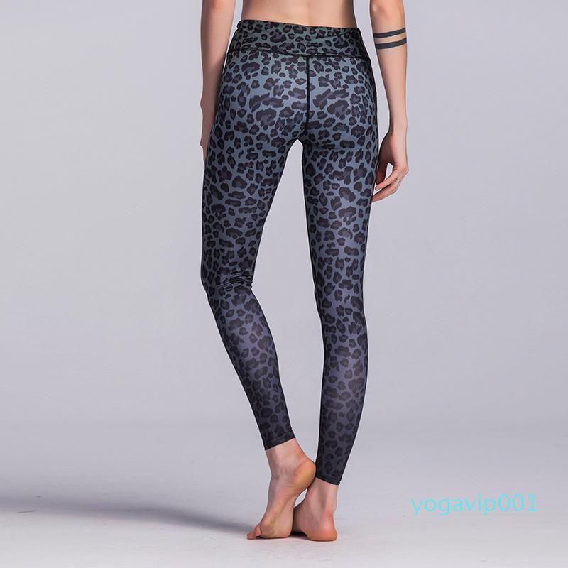 wholesale Leopard Print Yoga Pants sexy Women Gym Clothes Yoga Sport Pants Tights Jogger Running Trousers Slim Leggings sportswear