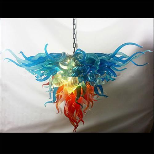 Pendentif lampes colorées Sauvegarde d'énergie Murano Soufflé Art Déco Crystal LED lustre pour la décoration de salon