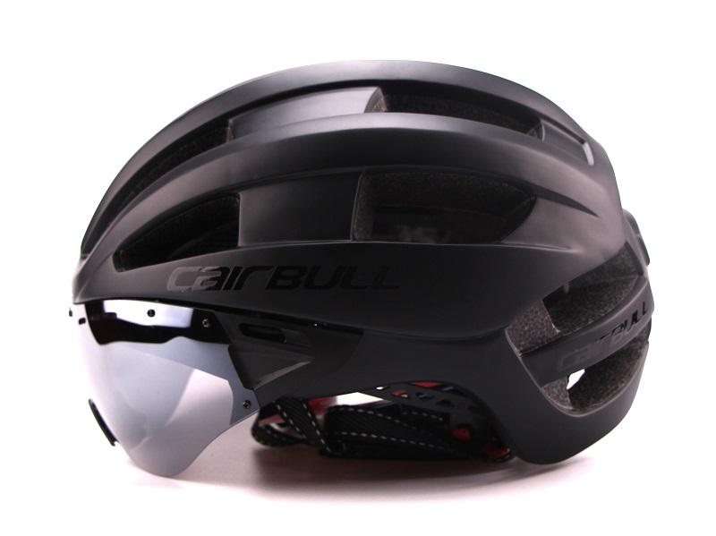 Ultra-light 235g Goggles Cycling Helmet Road Mountain MTB Bicycle Helmet In-mold Bike Helmet With Sun Visor Helmet M54-58cm (1)