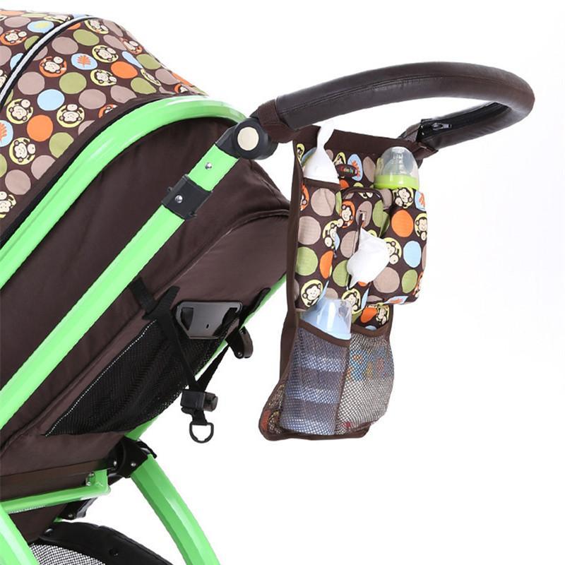 Moda cochecito de bebé Organizador biberón bolsas para pañales de maternidad bolso del panal de la madre del bebé del cochecito de niño de compras Accesorios bolso