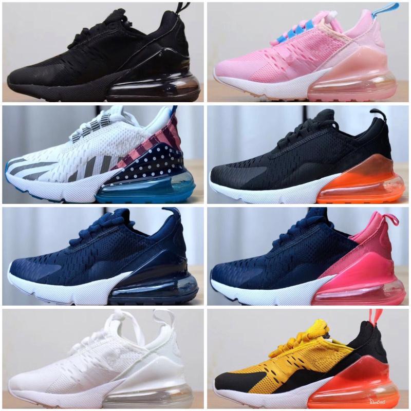 Nike air max 270 New Hot Sale enfants Casual Chaussures de sport garçons et les filles Chaussures de sport Chaussures de course pour enfants pour les chaussures de coussin
