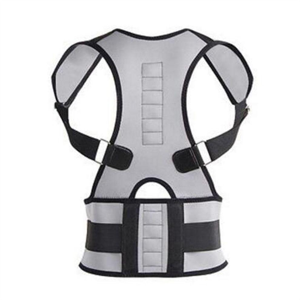 2018 New Men and Women's Adjustable Posture Corrector All-In-One Back Support Shoulder Lumbar Brace Belt Strap #119282