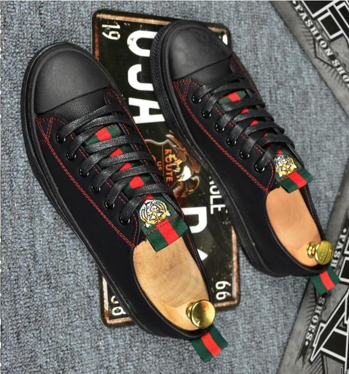 Chaussures pour hommes designer de luxe, chaussures de sport tete tête de ruban vert rouge vert-vert, motif de tête de tigre de marque, chaussures plates à fond souple en caoutchouc h10