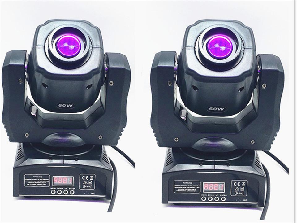 2X 60W пятна СИД Moving головной свет / США Luminums LED DJ пятно света 60W гобо движущиеся головы зажигает супер яркий светодиодный прожектор DJ