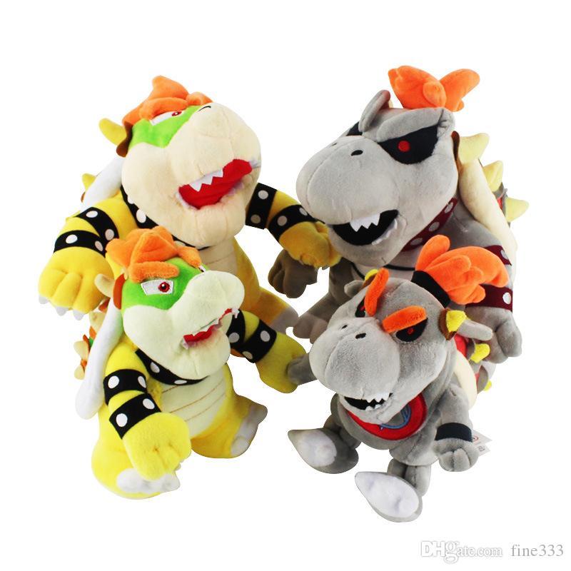 18-25cm Bowser Koopa dessin animé en peluche jouets poupée jeu Hot Mario Bros Luigi Toy poupée en peluche coton doux cadeau mignon en peluche
