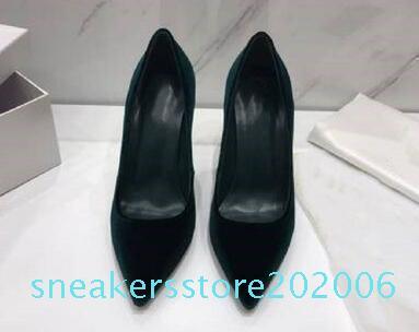 2019 zsd diseñador de moda de lujo de las mujeres inferiores rojos los tacones altos de 8 cm 10 cm 12 cm de piel desnuda Negro Rojo dedos apuntando Bombas zapatos de vestir 6 s06