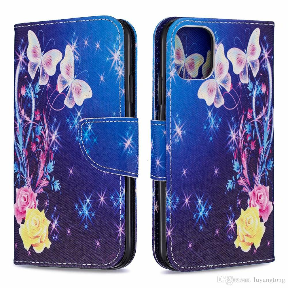 Pour iPhone 11 Flip Case étui en cuir pour iPhone 11 Pro Max Wallet cas couvercle du support iphone11 Sac de téléphone portable