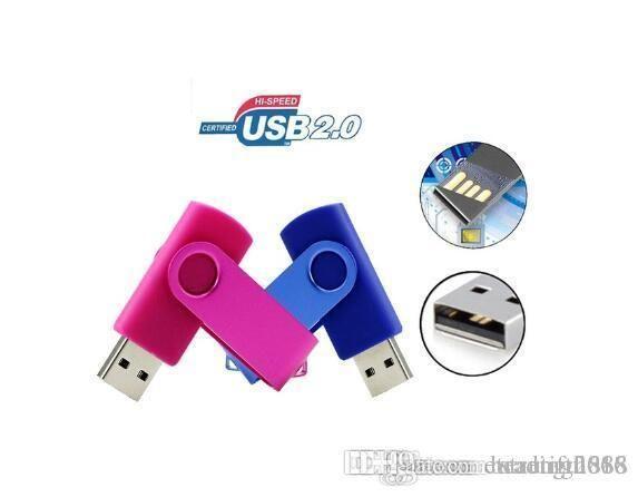 المعادن دوارة محرك فلاش USB حملة القلم 64GB USB 2.0 محرك فلاش عصا