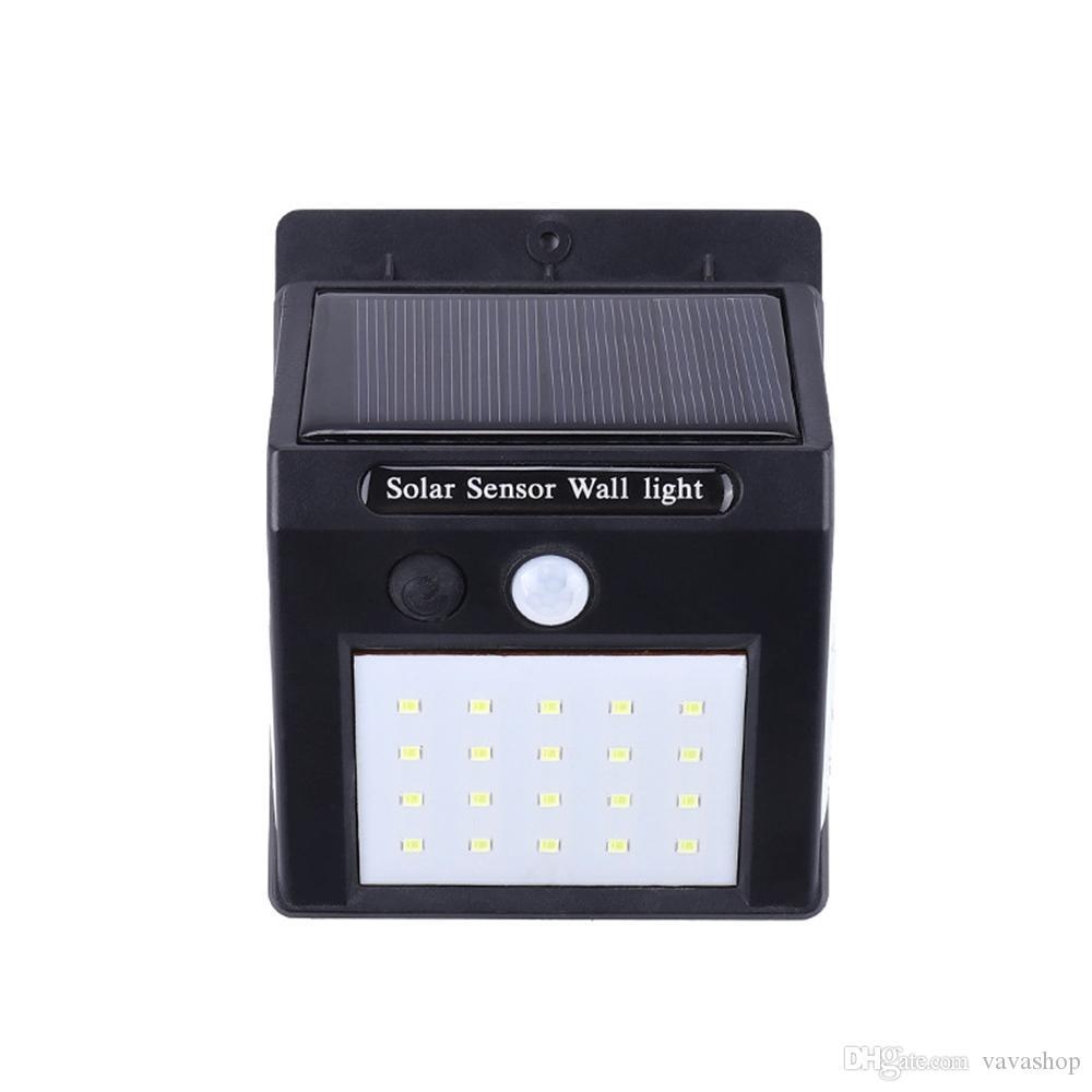 BRELONG Solar LED Applique murale IP65 Capteur de mouvement pour éclairage étanche