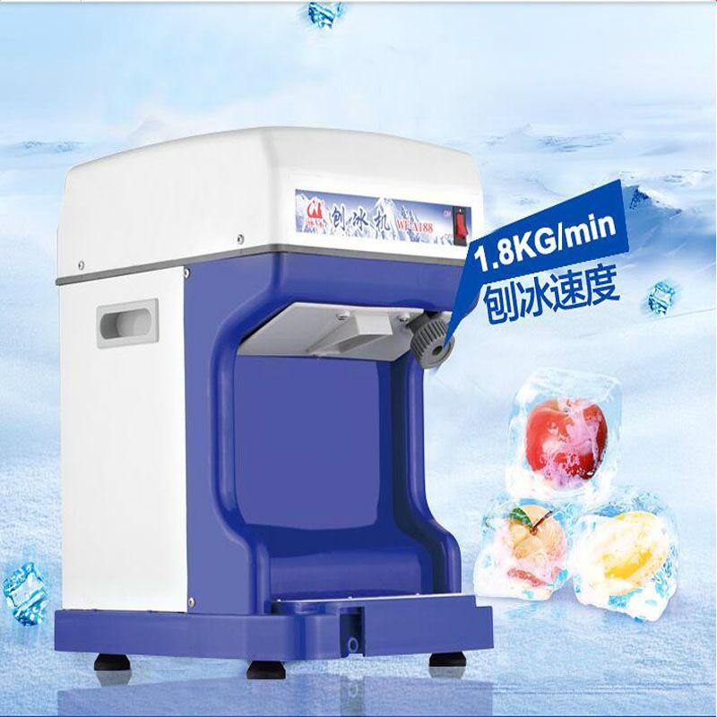 2020 Commercial Ghiaccio Tritato macchina elettrica del frantoio di ghiaccio rasata Macchina del ghiaccio blocco Rompere creatore di neve macchina cono smerigliatrice