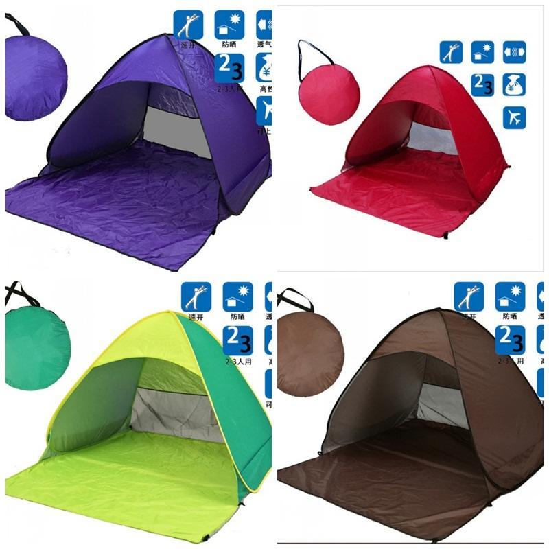 Vollautomatische Zelt Strand Camping Doppel Person Zelte Anti Sonnenbrand Schnelle Öffnung Gartenmöbel Rot Grün Tragbare 48 tl C1
