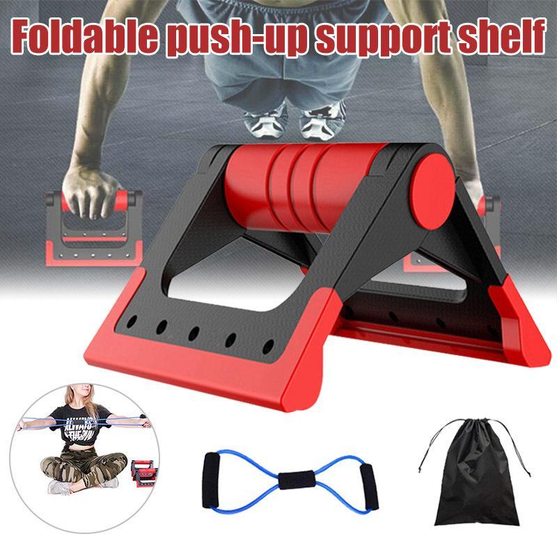 Push-up-Bars faltbare Rutschfestigkeit Pushup Bar Ständer mit gepolsterten Griffen für Workout Training FH99 Y200506