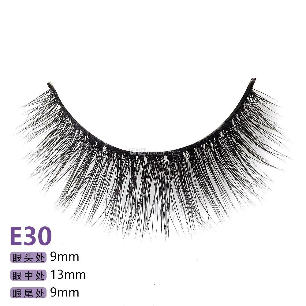 E30 E serie 5 paia / set False EyeLashes 5 accoppiamenti 3D Natural Long Fake Eyelashes Handmade Makeup Tools Accessories