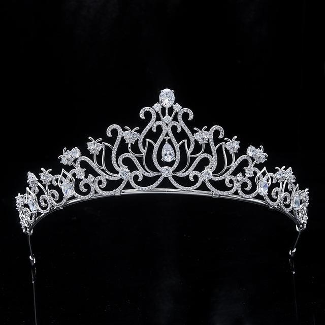 Joyería Himstory Nuevo Diseño Tiara Diadema dulce gotas de agua nupcial del pelo circón Accesorios Tiaras corona Hairband